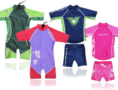 parmi les indispensables de l'été pour bébé : les maillots anti UV