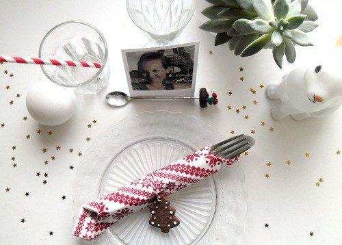 Idées pour la déco de votre table de Noël !