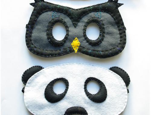 3 gabarits de masques de Carnaval
