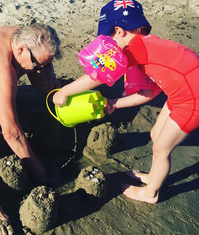 les fameux chateaux de sable !