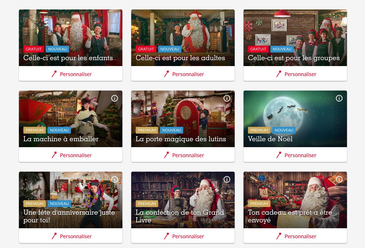 Les différentes vidéos de Pere Noel Portable