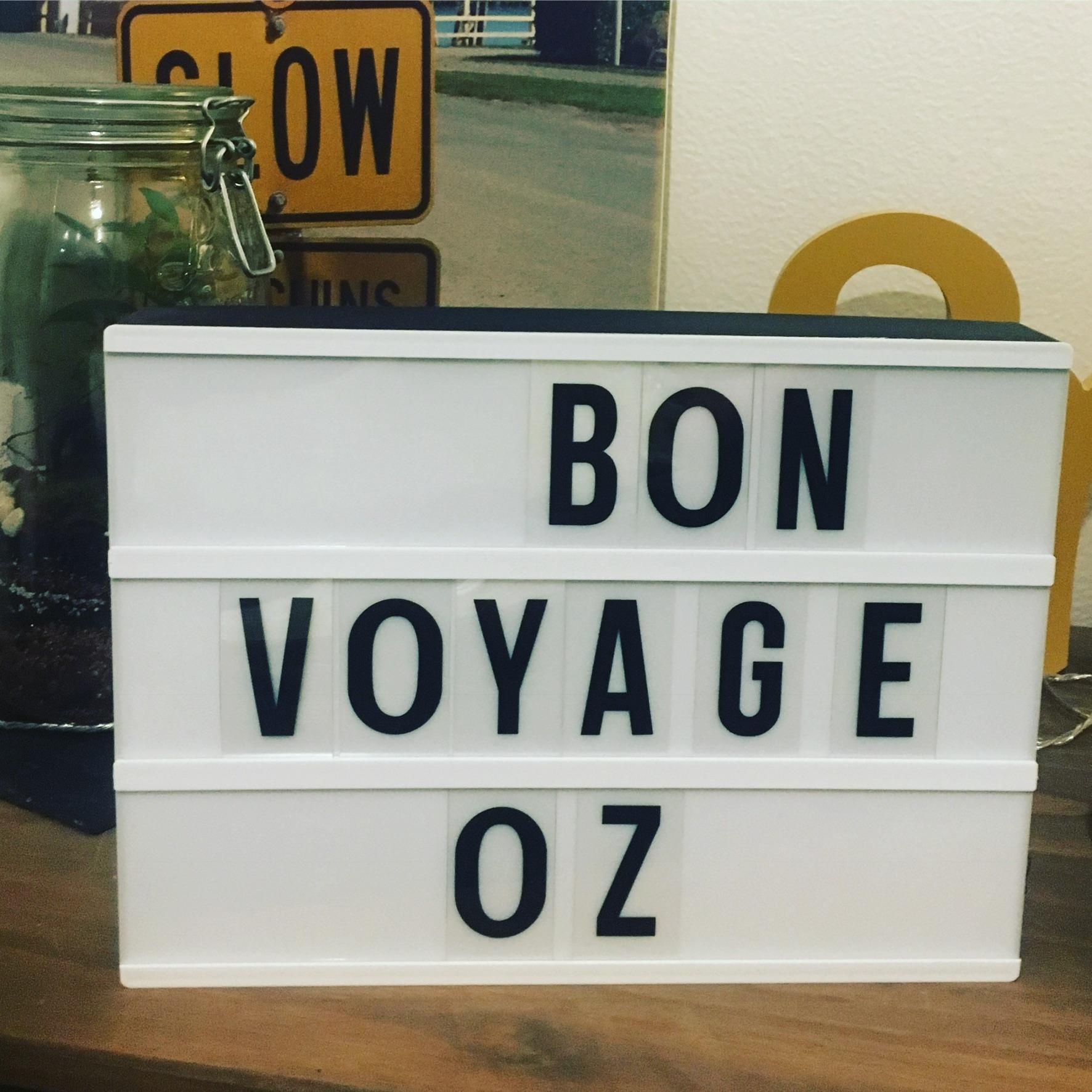 Bon voyage OZ