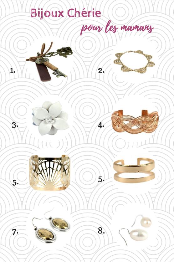 Selection de bijoux spécial fête des mères