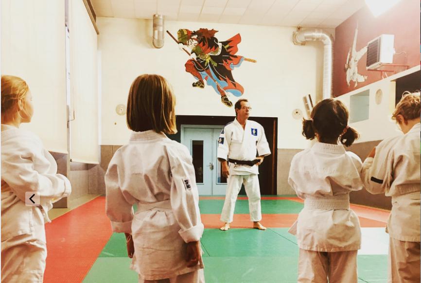 premier cours de judo pour Crevette
