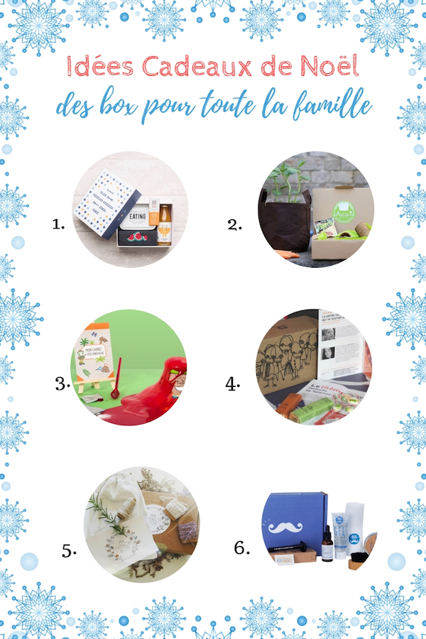 Idées cadeaux BOX noel pour toute la famiille